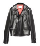 black 'tiger' leather jacket