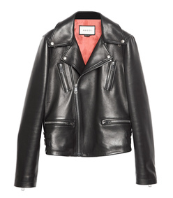 black 'tiger' leather jacket