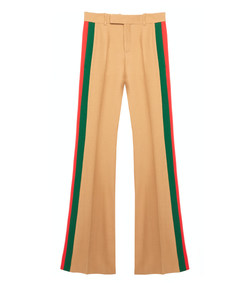 beige multi wide leg pant
