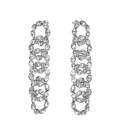silver short link earrings