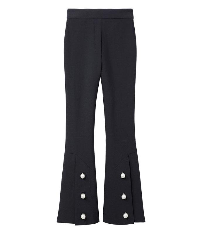 black pearl button pant