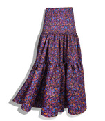 purple techno taffeta skirt