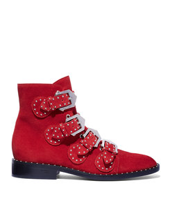 red chelsea stud boot
