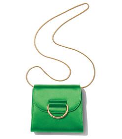 emerald green tiny box saddle bag