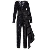 black embellished lace jumpsuit