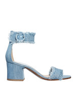 denim block sandal