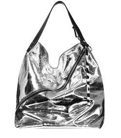 metallic large hobo bag