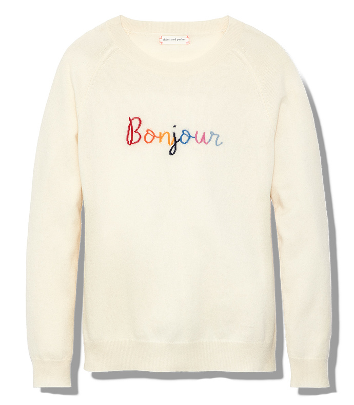ivory bonjour sweater