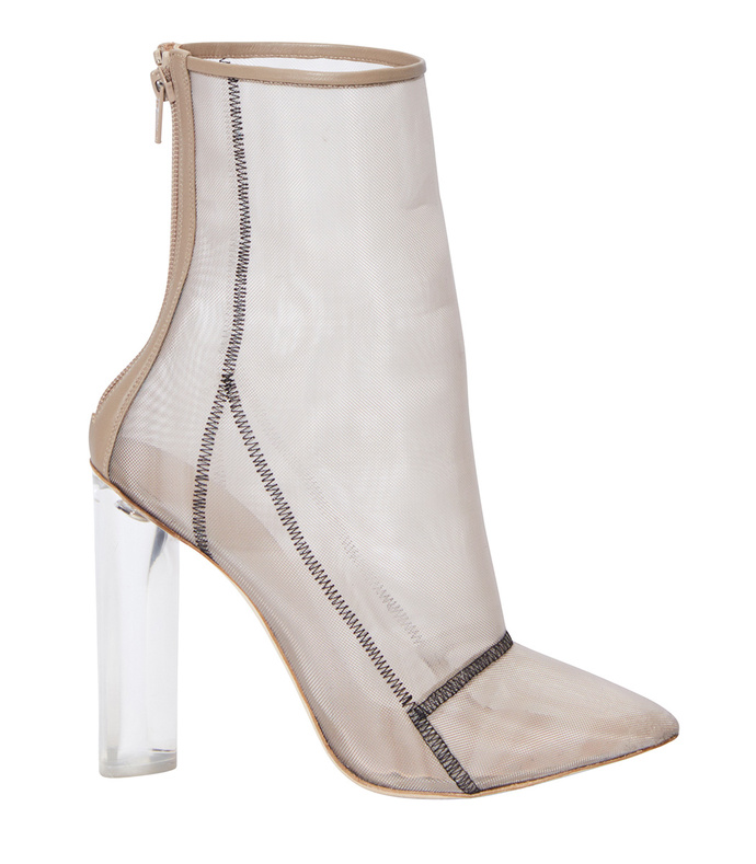 bone mesh ankle boot