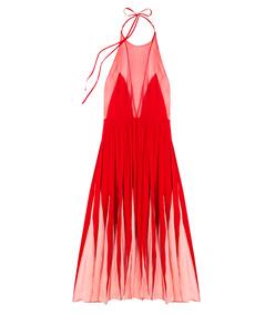 pink bi-color sheer dress