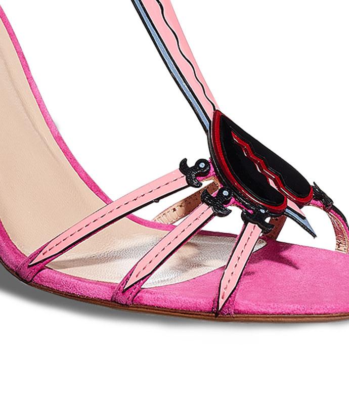 fuchsia 'heartbreaker' sandal