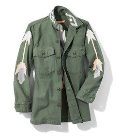 army 'east at dawn' embroidered jacket