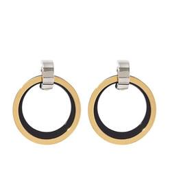 black & gold metal earrings