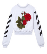 white embroidered 'graffiti' sweatshirt