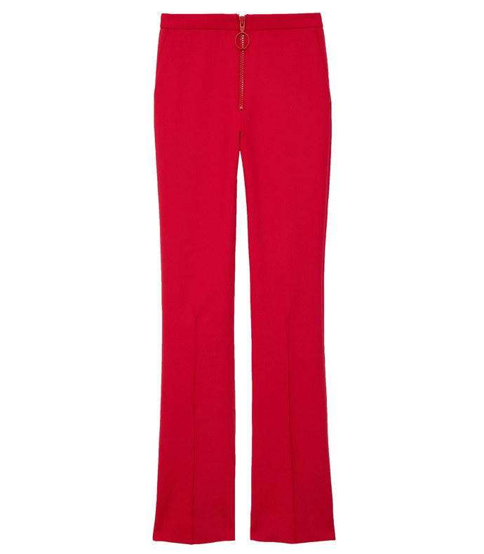 red print pocket pant