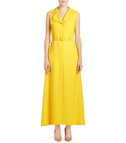 ShopBazaar Carven Yellow Collared Jumpsuit FRONT
