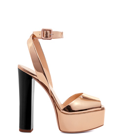 ShopBazaar Giuseppe Zanotti Design Gold Metallic Platform Pump MAIN