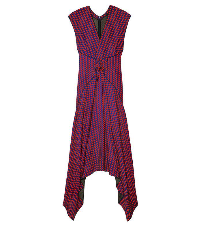 multicolor cap sleeve dress