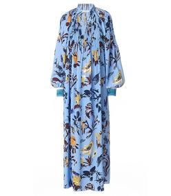 blue multi floral 'edwardian' dress