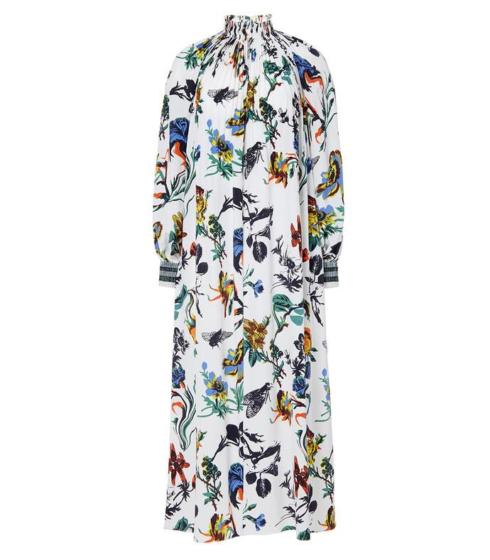 ivory floral 'edwardian' dress