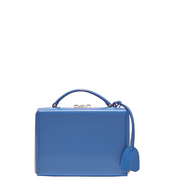 blue 'cornflower grace' box bag