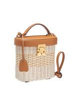 brown rattan benchley bag