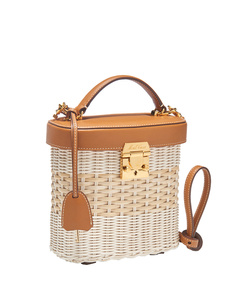 brown rattan benchley bag