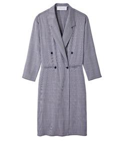 navy plaid davis coat
