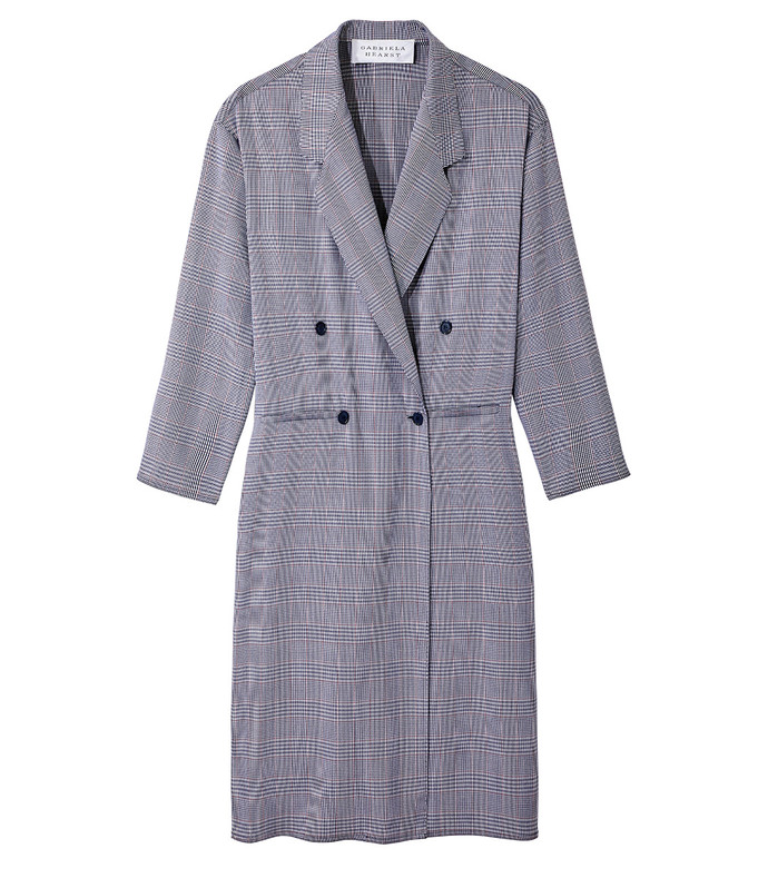 navy plaid davis coat
