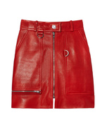 red 'franck' leather mini skirt