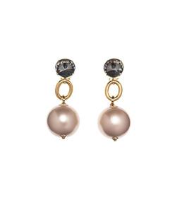 resin pearl drop earrings