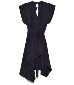 black 'lief' wrap dress