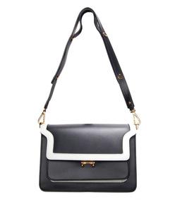 black & white 'trunk' bag
