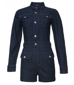 ShopBazaar Alexa Chung for AG Denim Loretta Romper MAIN