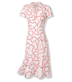 red 'string of hearts' dress