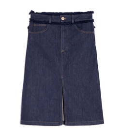 ShopBazaar See by Chloe Fray Detail Denim Skirt MAIN