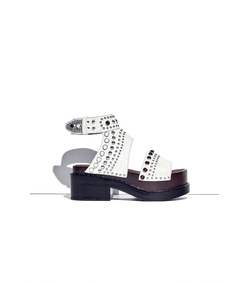 white 'nashville' platform sandal