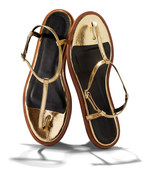 gold 'courtney' sandal