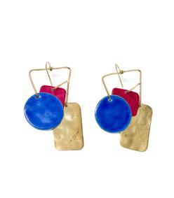 indigo bird garden earrings x aurelie bidermann
