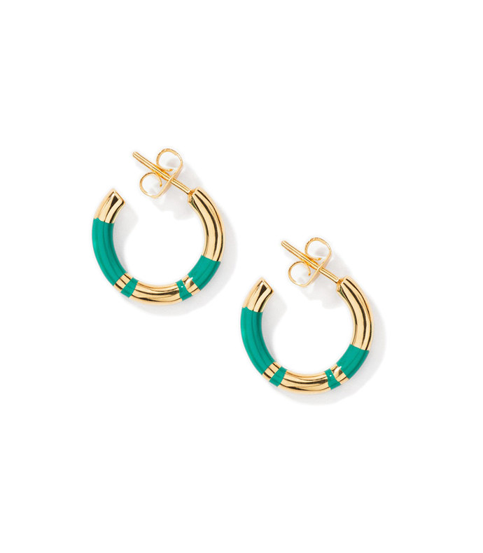 positano green emerald earrings