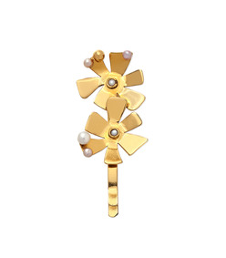 flower power hair pin