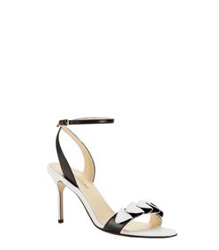 ShopBazaar Sarah Flint Black & White Anne Sandal FRONT