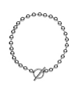 silver 'orb chain' necklace