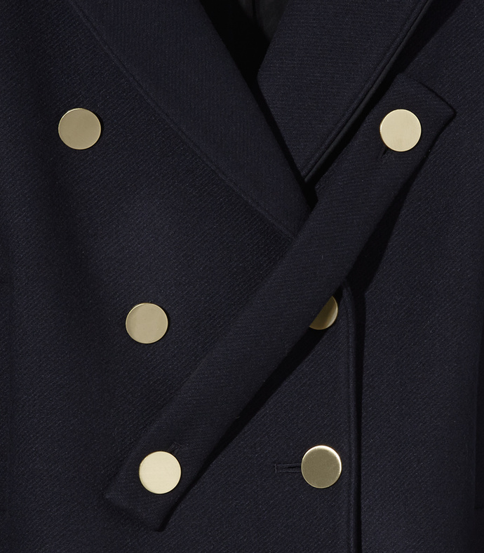 navy 'admiral' cropped peacoat