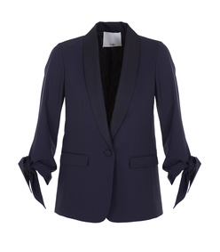 navy tropical wool tuxedo jacket