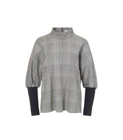 handloom grey multi jasper dolman ribbed top