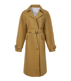 caramel oversized trench coat