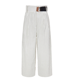 ivory 'cecil' stripe cropped pant