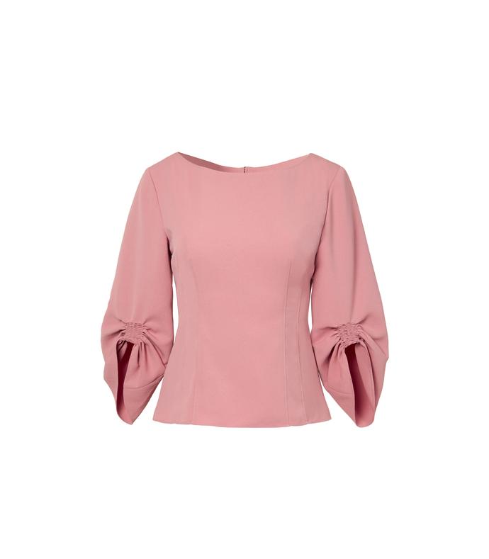 pitaya pink corset peplum top