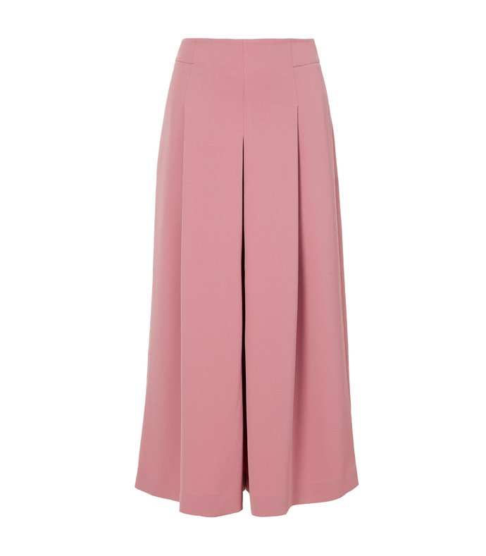pitaya pink pleated culottes skirt